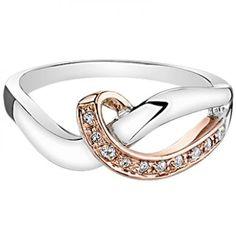 Rose gold & Sterling Silver diamond ring