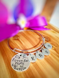 bfb0d23dd49 Aunt Jewelry - Gift for Auntie - Auntie Squad Bracelet - My Favorite People  Call me