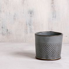 Ceramic Espresso Cup , Modern Espresso Cups in Light gray Geometric Pattern , Gift for coffee lover by FreeFolding on Etsy https://www.etsy.com/listing/216380809/ceramic-espresso-cup-modern-espresso