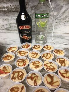 Caramel Apple Pudding Shots are perfect for fall!!