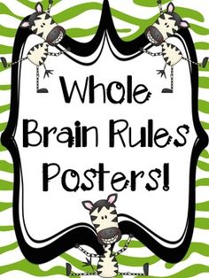 This product was made to originally match my own classroom theme: Rainbow with a touch of zebra thrown in. I took the liberty in creating several different options for teachers who may like the zebra theme, but not the rainbow. I also created posters for teachers who like Whole Brain Teaching rules, BUT dont necessarily use all of them.