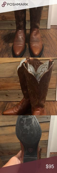Ariat Cowgirl Boots 8B Beautiful Ariat boots only worn a few times. Ariat Shoes Ankle Boots & Booties