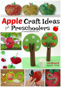 20 Apple Craft Ideas - oh how we love apples!! We have brought together some fabulous Apple Crafts for Preschoolers. If you love crafting with toddlers and preschoolers, these apple craft ideas make great Autumn projects for young kids. Enjoy! #Apples #Pr