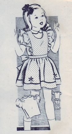 FREE SHIPPING Vintage 1945 Mail Order Betty Ann 1935 Sewing Pattern Girl's Child's Pinafores Size 3. $12.00, via Etsy.