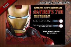 Pin by drevio invitation on free printable birthday invitation iron man birthday party invitations filmwisefo