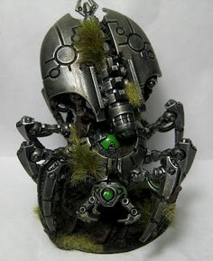 Ancient evil awakens. Necron Canoptek Spyder by Zen40K
