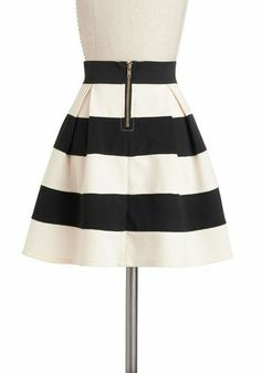 Bold striped skirt - $42