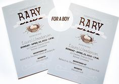 A Pinch of Lovely: Bird Nest Baby Shower Invitations