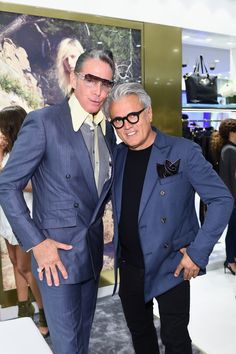 Tattoo artist Mark Mahoney and Designer Giuseppe Zanotti @ Giuseppe Zanotti Design Beverly Hills Store Re-Opening on April 14, 2015