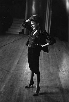 Judy Garland in a 1963 rehearsal for The Judy Garland Show (1963-64, CBS)