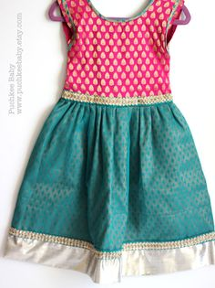 Gorgeous Brocade and Net Lehenga Dress for Toddler Girl (2T,3T) on Etsy by Puchkee Baby @ www.puchkeebaby.etsy.com
