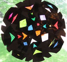 The Chocolate Muffin Tree: Contact Paper Rose Window