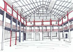 Patrimonio Industrial Arquitectónico: Mis dibujos Industriales. La Imprenta Vila