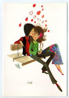〆(⸅᷇˾ͨ⸅᷆ ˡ᷅ͮ˒)                                                          Mod couple very much in love.