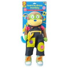 ALEX® Toys - Early Learning Learn To Dress Monkey (fine motor skills) Sensory Toys For Kids, Kids Toys, Learning Toys, Early Learning, Alex Toys, Magazines For Kids, Tie Shoes, Toddler Toys, Baby Toys