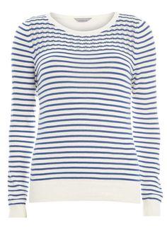 Petite stripe pointelle jumper - Dorothy Perkins