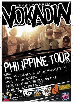VOKADIN Philippine Tour 2014 in Cebu City Chicken N Beer, Music Events, Cebu City, Live Music, Punk Rock, Tours, Cebu