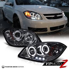 Black 05 10 chevy cobalt pontiac g5 halo projector led headlights ccfl halo led projector smoke headlights lamp 2005 10 cobalt 07 09 pontiac g5 sciox Gallery