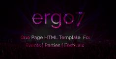 awesome Ergo7 - HTML Template for Events | Parties | Festivals (Events)