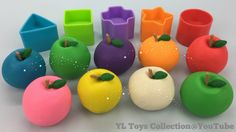 Play Doh Colours Apples Fun Learning Shapes and Colours for Kids