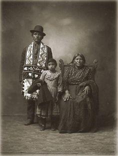Ojibwa family - circa 1912