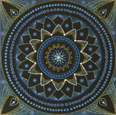 Dot Painting Mandala, Acryl on canvas, 50x50cm, www.deschanja.ch