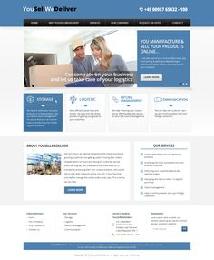 Clean, simple well presented logistic fulfillment service website