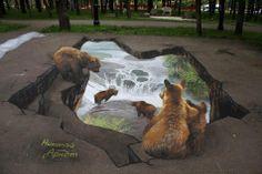 3d Art - bears watching bears