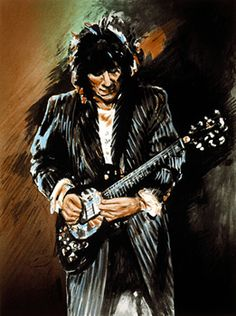Ronnie Wood, Slide on This, Limited Edition, Serigraph on Paper at Doubletake Gallery Wood Artwork, Music Artwork, Art Music, The Rolling Stones, Ronnie Wood Art, Rock And Roll, Ron Woods, Stone World, Star Art