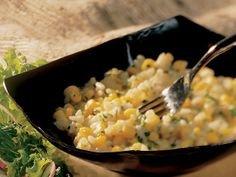 Creamy Corn and Garlic Risotto with parmesan and mozzarella cheese. EASY. DELISH. BETTY CROCKER