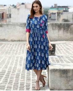 Angrakha Tasseled Dress