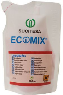 Ecomix Limpiabanos este un produs concentrat care se foloseste prin diluarea in apa la curatarea de bai, toalete, suprafete si mobilier bai.