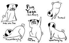 Pug Yoga - Bah Humpug