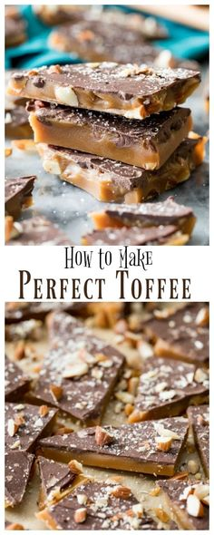 How to make the BEST Toffee Recipe! Includes plenty of tips and tricks for perfect, giftable toffee! via How to make the BEST Toffee Recipe! Includes plenty of tips and tricks for perfect, giftable toffee! via Sugar Spun Run Saltine Toffee, Toffee Bark, Toffee Candy, Toffee Cookies, Cracker Toffee, Toffee Dip, Toffee Cupcakes, Toffee Popcorn, Recipes