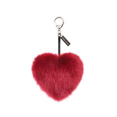 Add a personal touch to belongings with this Crimson Faux Fur Heart keyring from Helen Moore. Made from wonderfully soft faux fur, this heart shaped keyring features a deep red colour. Clipping ont...
