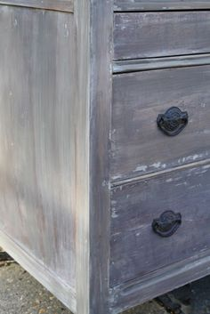 Primitive & Proper: The Stripped Dresser Outcome; a stripped washed finish like restoration hardware or anthropologie