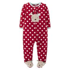 Just One You™Made by Carter's® Newborn Girls' Dot Reindeer Sleep N' Play - Red