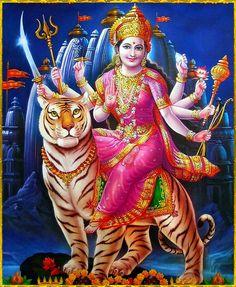 Receive Nine-Fold Blessings from Powerful Forms of Goddess Durga on Auspicious Ugadi. Maa Durga Image, Durga Maa, Shiva Shakti, Hanuman, Saraswati Goddess, Goddess Lakshmi, Durga Picture, Maa Durga Hd Wallpaper, Happy Navratri Images