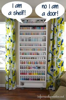 CRAFTY STORAGE: Great idea from in farrantly creative