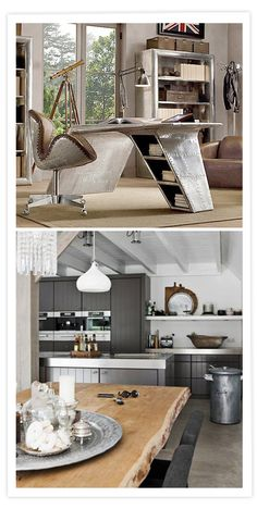 Good idea for kitchen  Ambiantes masculinos / Ambiances masculines / Men decoration