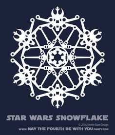 Downloadable Star Wars Snowflakes /// We add new Star Wars crafts to our blog every week! Design is copyrighted and for personal use only. See blog for details. /// #starwars #star wars #snowflake #paperart #downloadable #cutpaper #silhouette #silhouettecameo #silkscreen #paper #papercraft /// maythefourthbewit...