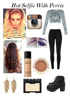 """""""Hot Selfie With Perrie"""" by famouskike1616 ❤ liked on Polyvore featuring Hervé Léger, Bare Escentuals, Forever 21 and NARS Cosmetics"""