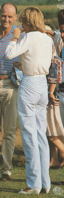 July 29, 1983: Princess Diana and Major Ronald Ferguson at a polo match at Cowdray Park, Midhurst, West Sussex.