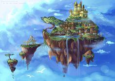 ___background_practice___floating_island____by_kurama_chan-d50csqn.jpg 1181×843 pixels