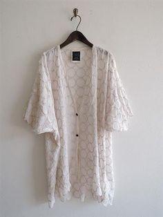 ミナペルホネン mina perhonen tambourine リネン刺繍使い羽織