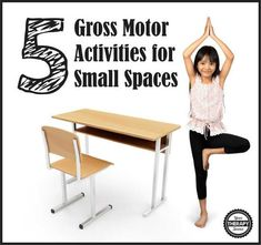 School based therapists are frequently working on gross motor skills in small spaces. Here are five gross motor activities for small spaces that will help. Motor Skills Activities, Movement Activities, Gross Motor Skills, Sensory Activities, Therapy Activities, Physical Activities, Physical Education, Therapy Ideas, Health Education
