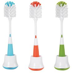 """OXO Baby Bottle Brush with Nipple Cleaner.  """"Do I really need a bottle brush?""""  Says the mom-to-be?  """"Yes,"""" I sigh, """"You need one, they're not cool, they look horrible, they break easily, but you need one and since you need one the OXO is the best now just buy it, bitch!"""""""