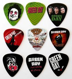 Green Day Guitar Picks - Packet of 9 Plectrums