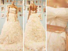 Wedding ball gown with ruffled / gathered skirt made of chiffon. Bridal Gowns, Wedding Dresses, Gathered Skirt, Ruffle Skirt, Exclusive Collection, One Shoulder Wedding Dress, Ball Gowns, Ready To Wear, Wedding Day