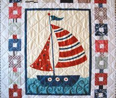 SerendipitiJoy: Nautical quilt 2 finished
